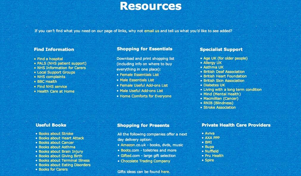 hospital essentials resources